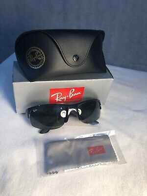 Brand New Authentic Ray-Ban Sunglasses RB4173 Sport Wrap Black Green (Ray Ban Sports Sunglasses)