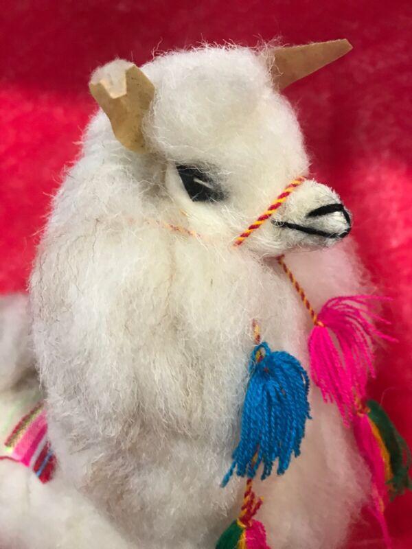 Llama Of Wool Fur - 11 Inch Tall