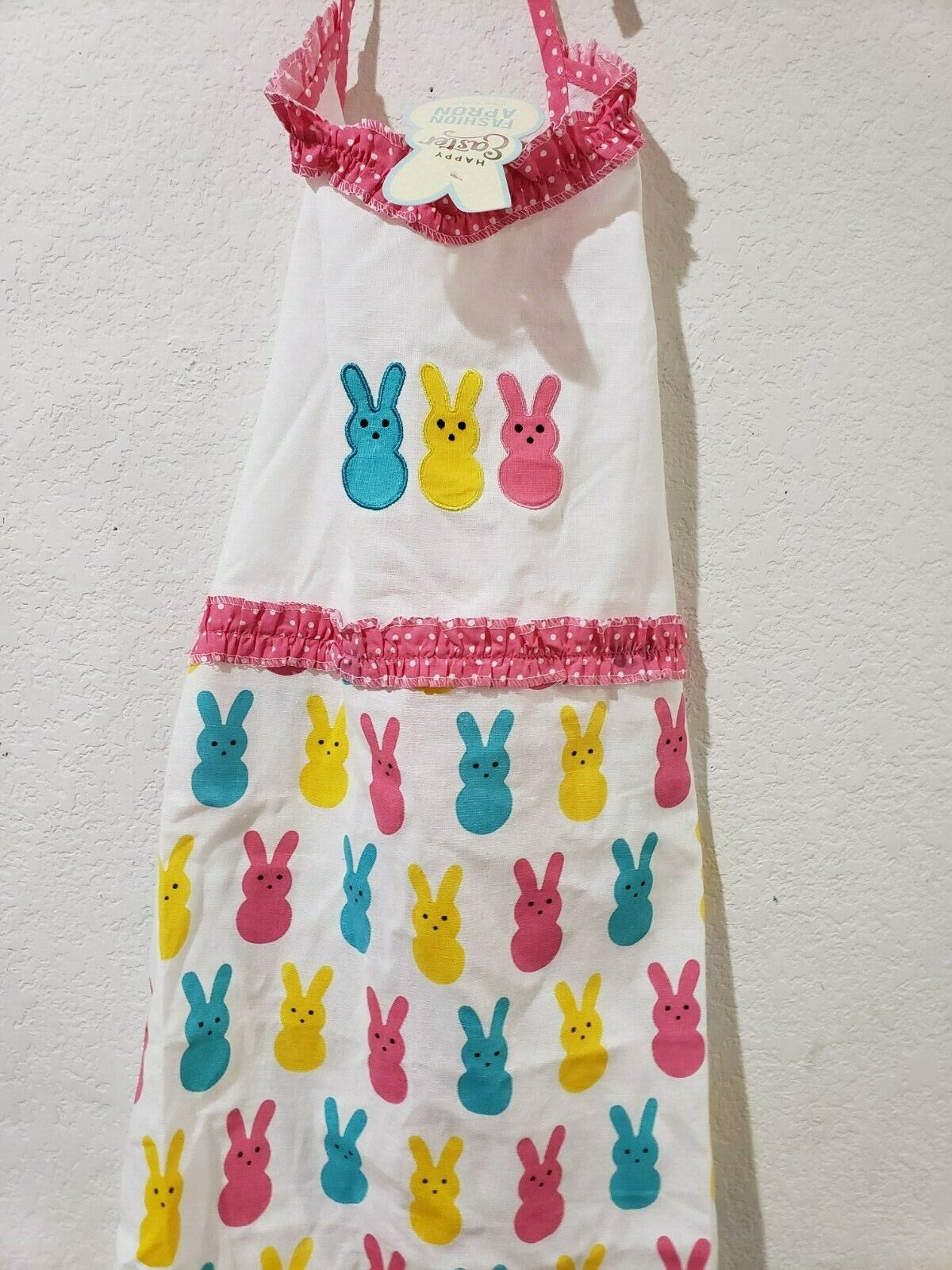 Easter Adult PEEPS Pink Yellow Apron NEW