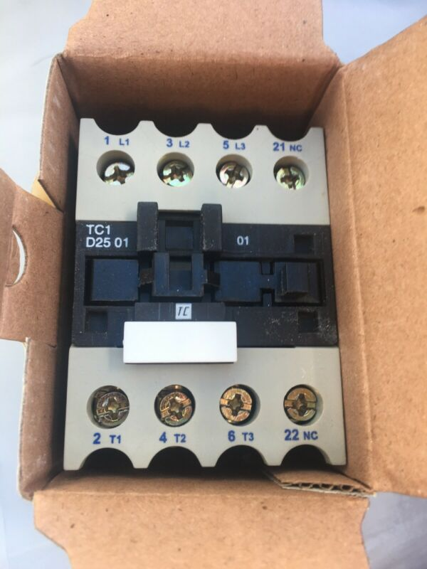 New In Box, Shamrock Controls TC1D2501-G6 Contactor Ships Fast Free