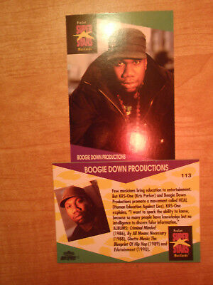 Boogie Down Productions ProSet Super Stars MusiCards (1991) US 1 cards: #113