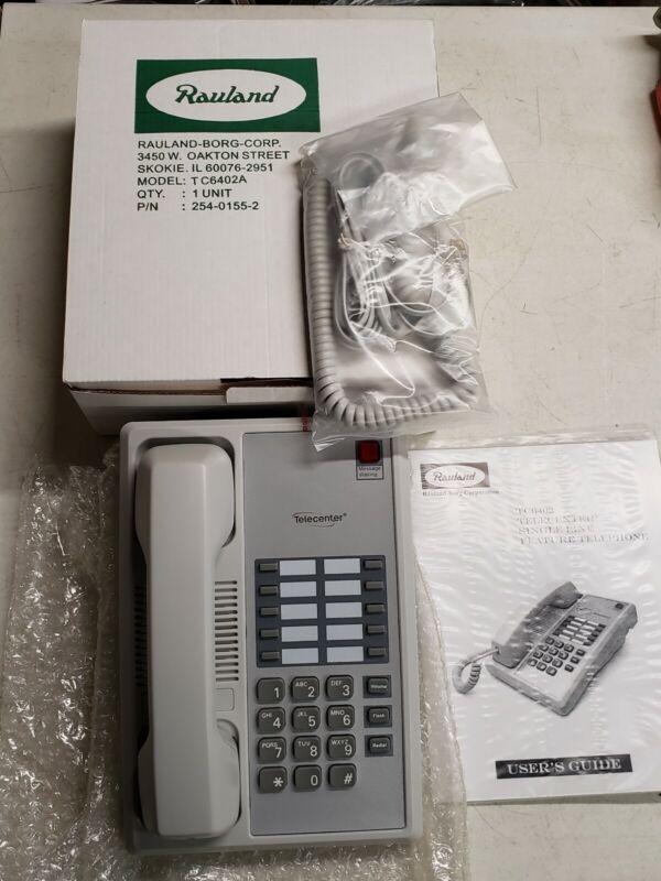 Rauland Borg TC6402 Telephone Deskset-NEW-Telecenter-Single Line