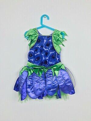 Mädchen Kleid Kostüm GRÖSSE S Pfau Lila Grün