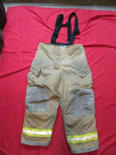 42 x 30 Cairns REAXTION Firefighter Pants W Suspenders Bunker Turnout Fire Gear