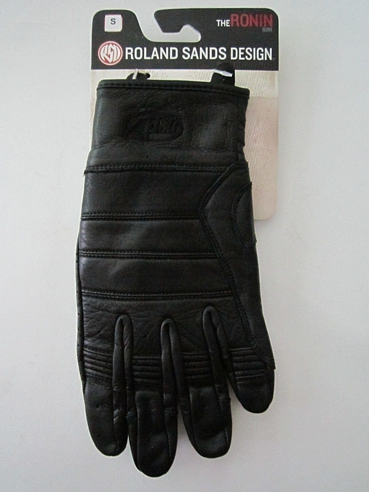 NEW ROLAND SANDS RSD RONIN LEATHER GLOVES IN BLACK SIZE SMALL S SM - FREE SHIP!