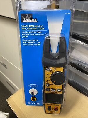 New Ideal Id 200-amp Split Jaw Clamp Meter 61-405