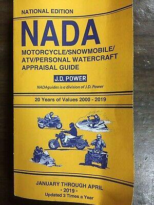 2000-2019 NADA MOTORCYCLE,SNOWMOBILE,ATV, PERSONAL WATERCRAFT APPRAISAL GUIDE