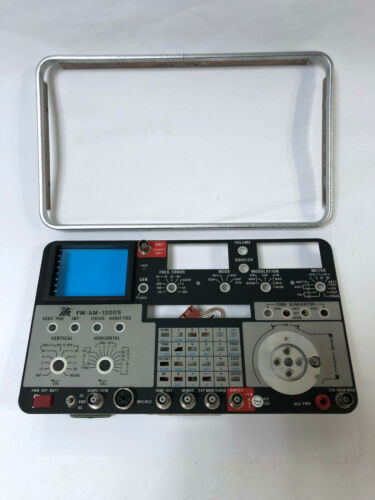 IFR FM/AM-1200S COMMUNICATIONS SERVICE MONITOR FRONT PLATE & BEZEL FOR PARTS