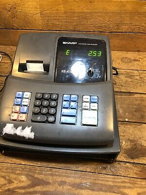 Sharp Electronic Cash Register - Model Xe-a106 Retail With Key Missing Drawer