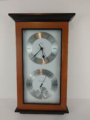Bulova C3760 Yarmouth Maritime Wall Clock Temperature Thermometer Hygrometer