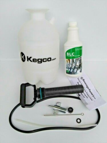Kegco Deluxe Hand Pump Pressurized Beer Line Cleaning Kit   (Open Box)