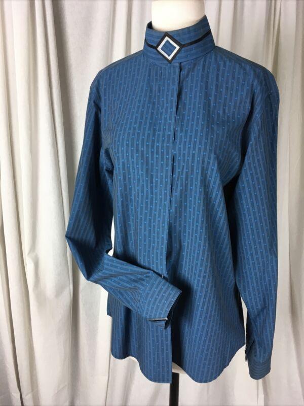 Blue Pinstripes Miku Ratcatcher Hunt Show Shirt 40