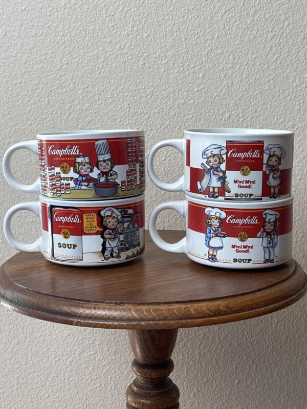 Campbell Soup Mugs Set Of Four 1997