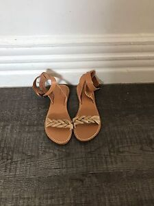Soludos braided ankle strap sandals sz 7 Vachetta (brand new) Albert Park Port Phillip Preview