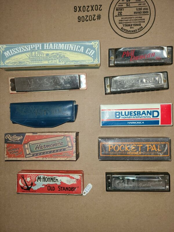 Harmonica Lot of 10 Good Condition