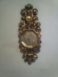MCM Fiberglass Sculptured Cherubs  Wall Clock  ( LARGE 4.ft Tall )