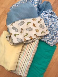 10 fitted crib sheets