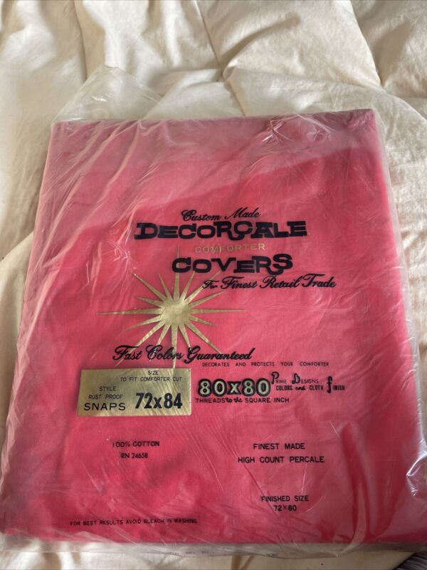Decorcale comforter cover 💯 cotton beautiful red color