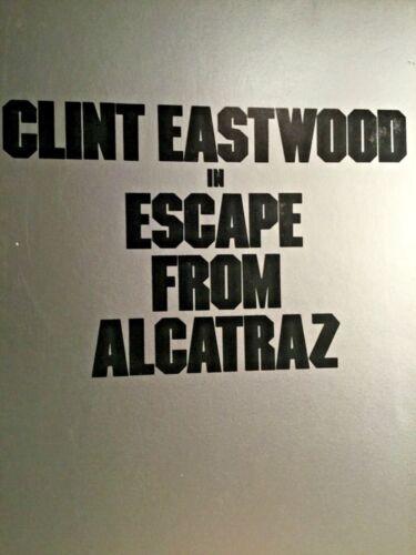 CLINT EASTWOOD ESCAPE FROM ALCATRAZ 1979 MOVIE COMBO KIT