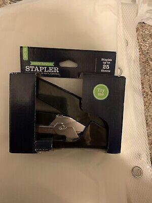 Stapler Half-strip Desk Stapler 25 Sheet Capacity Easy Touch Office New Black