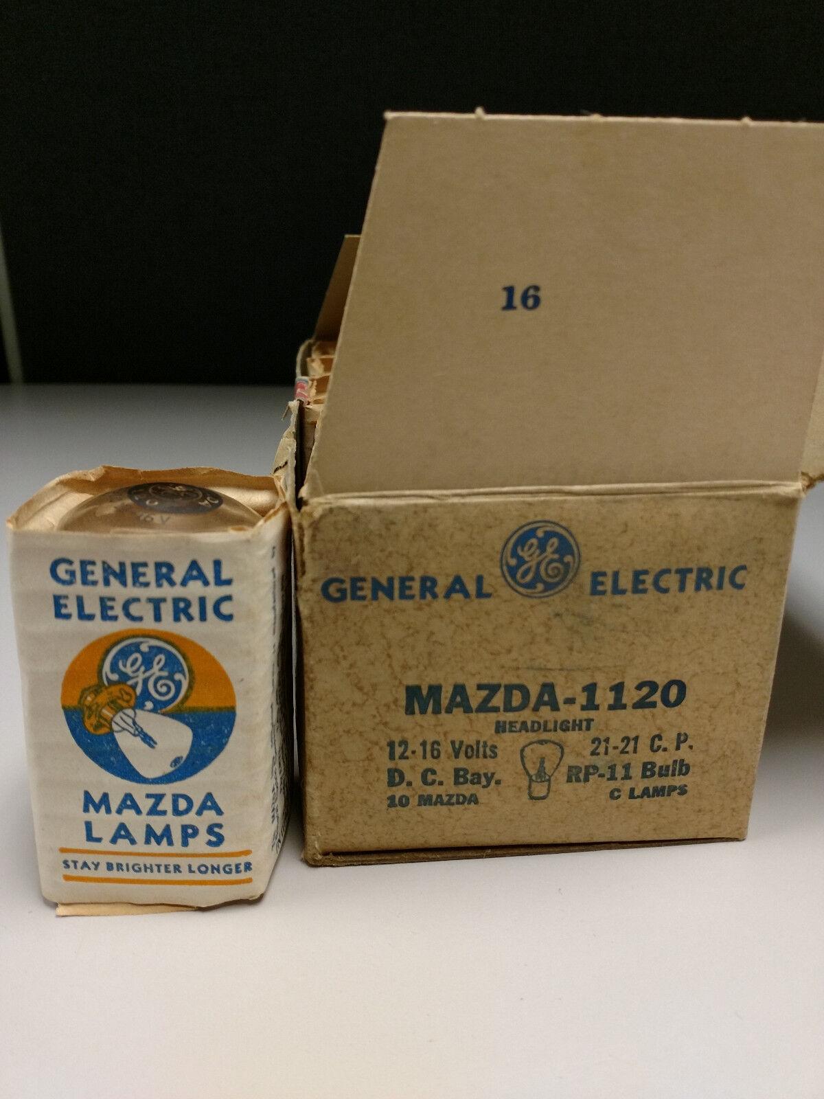GE MAZDA 1120 (New Old Stock) Dual Filament 12V 21CP RP-11 Lamps (SINGLE LAMP)