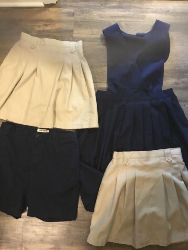 4 Piece School Uniform Lot Size 16 - Lands End, IZod & Chaps