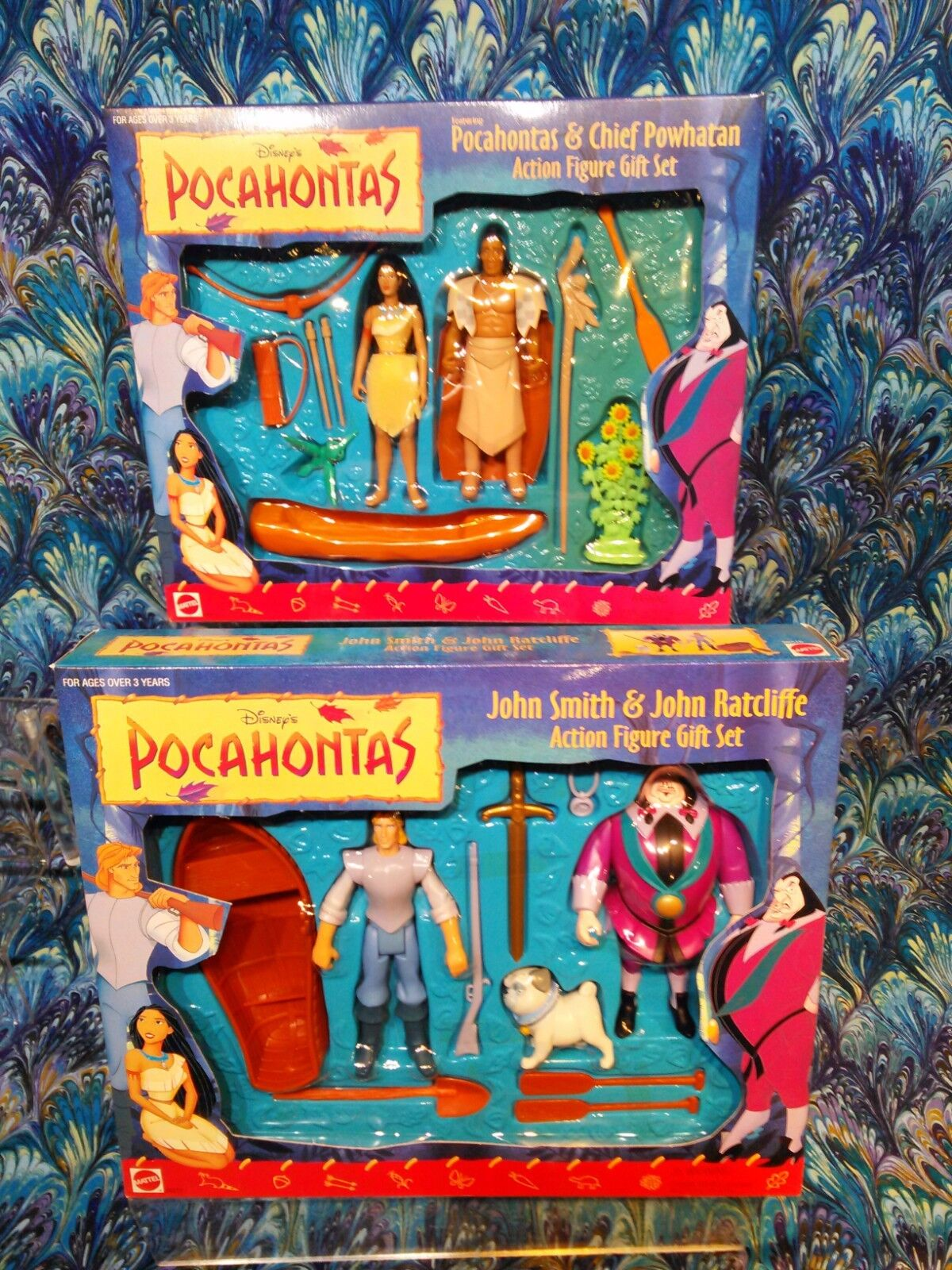 Pocahontas Action Figure Gift Set Lot 2 NEW IN BOX SEALED NI