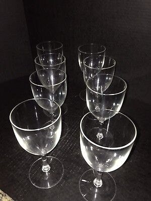 EPIC WINE WATER GOBLETS CLEAR UNBREAKABLE PLASTIC 7 1/2
