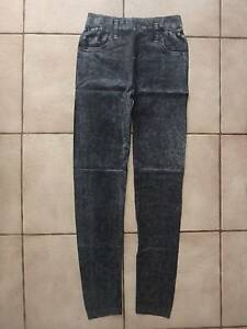 Jeggings Denim Look Black Blue Stretch  Size S - M:  NEW Greenwood Joondalup Area Preview