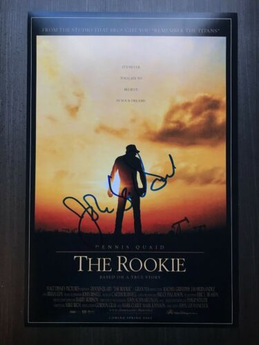 * JOHN LEE HANCOCK * signed 12x18 photo poster * THE ROOKIE DIRECTOR * PROOF * 1