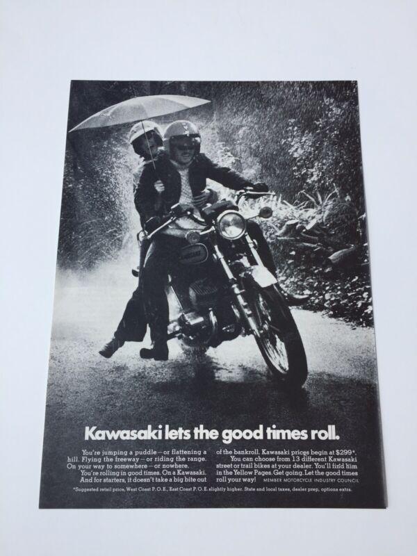 Kawasaki Motorcycle Ad 1973
