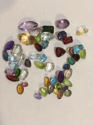 33 Cts. Lot of Mixed, Faceted Semiprecious Gemstones