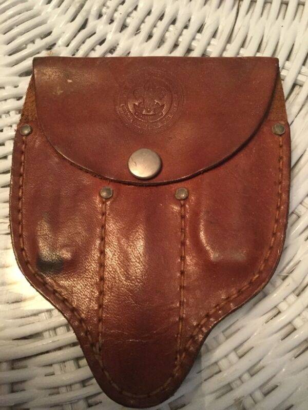 Boy Scouts of America Mess Kit Utensils Leather Pouch 1940