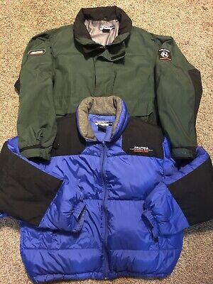 Vintage NAUTICA COMPETITION XL ELEVATION 8000 DOWN PUFFER COAT JACKET Spellout
