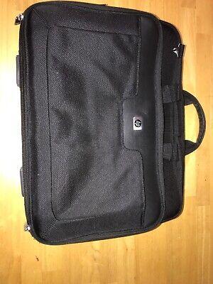 "Hp Universal 21+ Pocket 17"" Laptop Nylon Brief Messanger Case Leather Trim Panel Hp Universal Nylon Case"