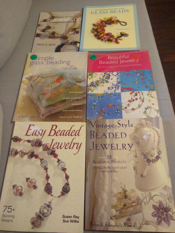 Lot Of 6 Jewelry Beading Books