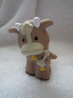 New! Fisher Price Little People COW & CALF Nativity Farm Zoo Noah Ark Stable