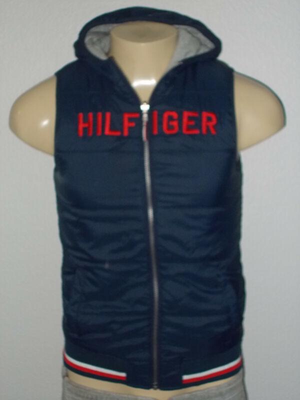 Vintage Tommy Hilfiger Reversible Hoodie Vest Youth XL 16/18