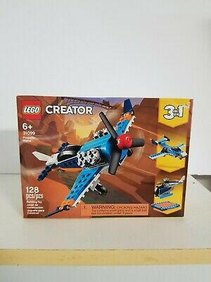 Lego Creator Propeller Plane (31099) 128 Pieces 3 in 1!! Free Shipping!!