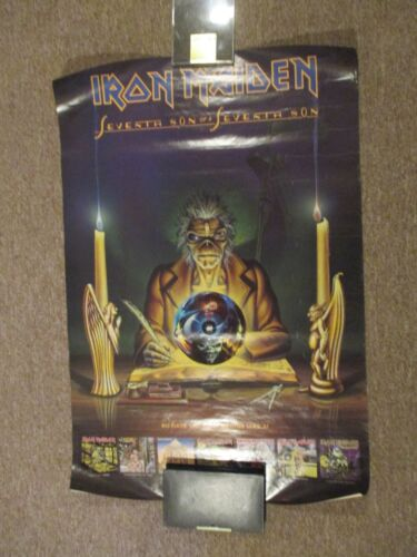 "Iron Maiden - Seventh Son Of A Seventh Son, RARE Promo Only Poster, 36"" x 23"""
