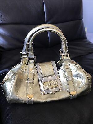 Authentic Vintage Versace Purse Gold