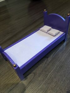 Kidcraft wooden purple doll bed 11 inches long!