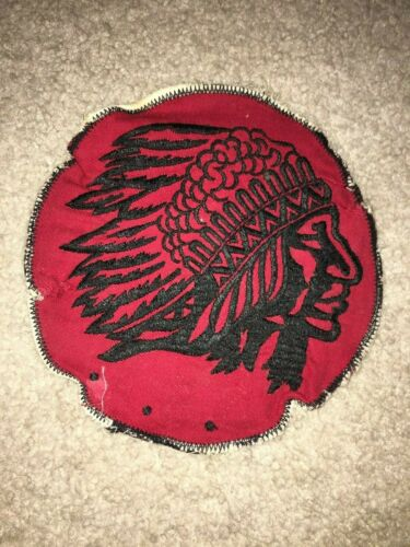 Boy Scout BSA Indian Chief OA Red Black 1955 - 1972 Jacket Patch Patrol
