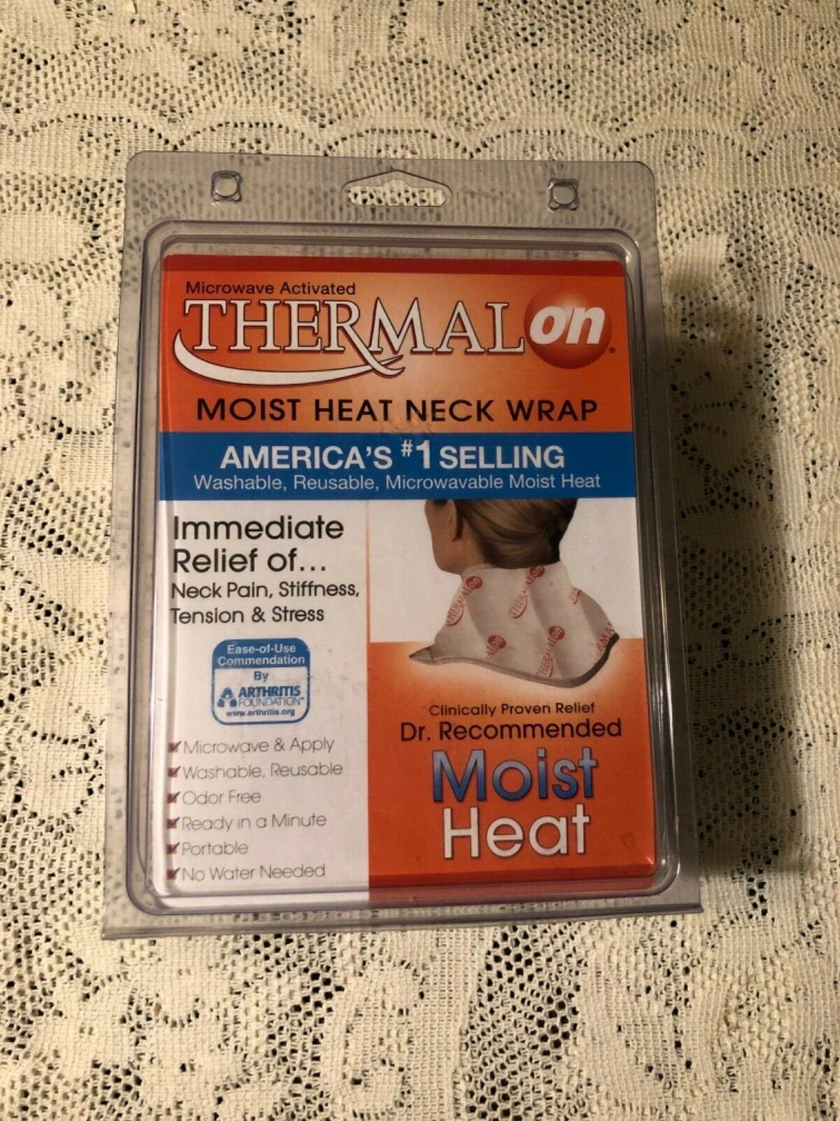 Thermalon Microwave Activated Moist Heat-Cold Neck Wrap for