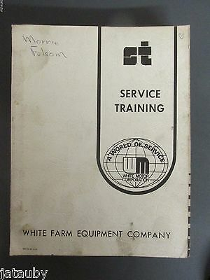 White Farm Equipment Service Training Bundle 2-45 2-62 Field Boss Tractors