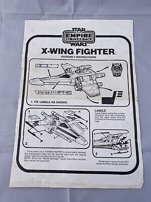 Vintage Kenner Star Wars ESB X-Wing Fighter Instruction Sheet 100% ORIGINAL