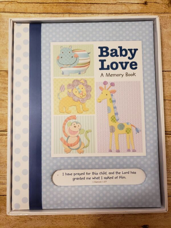 BABY LOVE PHOTO ALBUM HOLDS PHOTOS OF BABY BOY BRAG BOOK NWT
