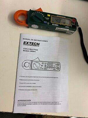 Extech 380941 Professional Acdc 200a 40a Digital Mini Clamp Meter Unit Ohm Volt
