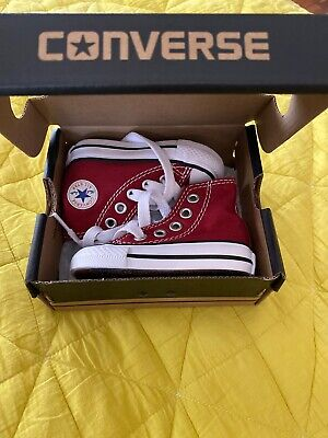 Converse HI Top Chuck Boys Girls NEW Toddler 2 Red Maroon Shoes Sneakers Unisex