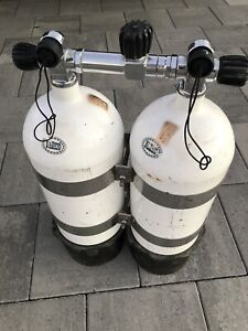 Faber steel scuba dive tanks twin 10.5Ls | Other Sports ...